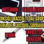 #Consigling: Notebook, tavolette grafiche, calcolatrici e penne